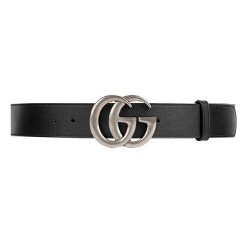 DCCK GUCCI - Leather Belt for Men DOUBLE G (397660APOON1000)