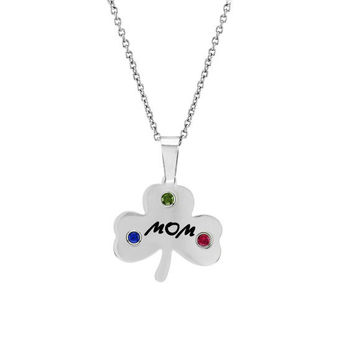 Mom  Clover Pendant With Three Personalized by NaomisCo2 on Etsy