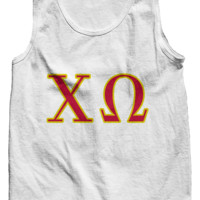 Chi Omega Letters Tank Top