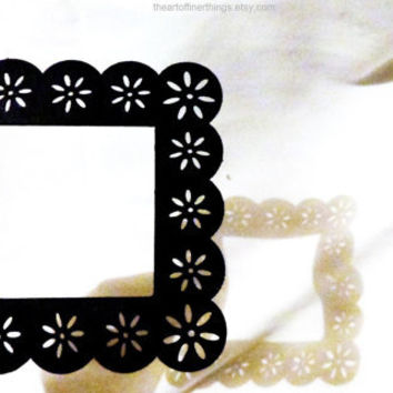 black open back wood frames 4x4 Black PAINTED FRAMES picture frames laser cut ornate decorative wood frames