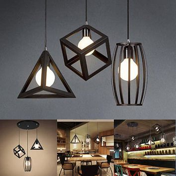E27 Industrial Ceiling Light Vintage Chandelier Pendant Kitchen Bar Fixture Lamp
