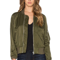 NLST Shrunken Spring Flight Jacket in Olive