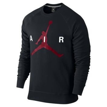 Jordan Jumpman Graphic Brushed Crew Men's Sweatshirt, by Nike