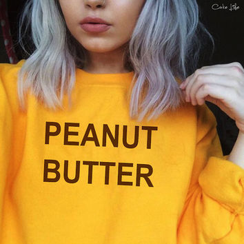 Peanut Butter top Crew Neck - Regular or Cropped sweater by Cake Life®