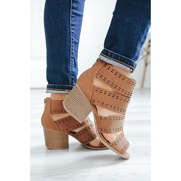 Blessed With Beauty Booties- Cognac