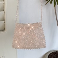 Iridescent Crossbody Beaded Bag