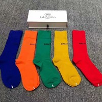 Balenciaga Goddess must be a single product, a lot of color, pure cotton quality, a box of 5 pairs, counters the same paragraph 005