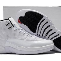 Air Jordan Retro 12 Sunrise Basketball Shoes Men Women 12s Sunrise White Athletics Trainers Sneakers New Released With Shoes Box