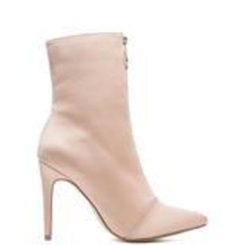 CR Mid Calf Nude Booties