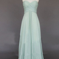 homecoming dresses, A Line strapless sweetheart long chiffon prom dresses, bridesmaid dress, evening dress, RE56