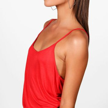 Maya Strappy Scoop Cami | Boohoo