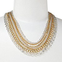 Lauren Ralph Lauren Status Quo Multi Row Chain Necklace