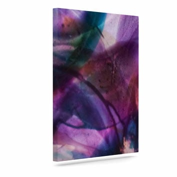"Malia Shields ""Bubble Series #5"" Purple Multicolor Canvas Art"
