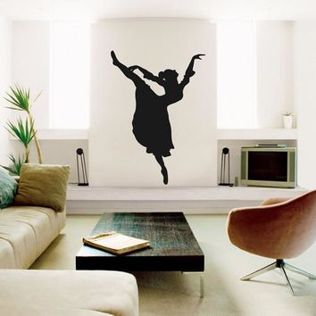 ik2350 Wall Decal Sticker ballerina ballet dance hall bedroom dance studio