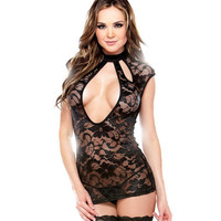 Sexy On Sale Cute Hot Deal Summer Stylish Hollow Out Sleeveless Lace Exotic Lingerie [6596440899]