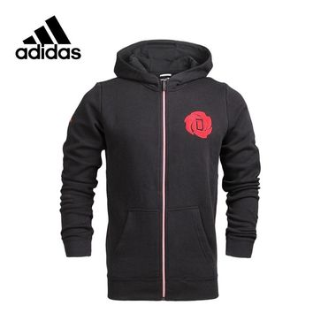Adidas Original New Arrival Official men's Knitted Hoodie Jacket Sportswear S92362 S92363