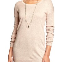 Women's Scoop-Neck Tunic Sweaters