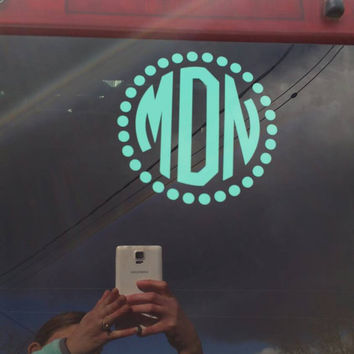 "5x5"" monogrammed car decal"