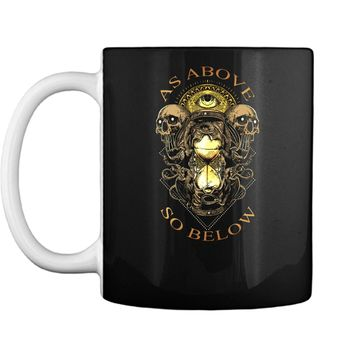 As Above So Below Baphomet Black Magic Devil For Halloween Mug