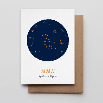 Taurus Star Sign Card