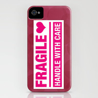 Fragile Heart Handle With Care iPhone Case by Susan Weller | Society6