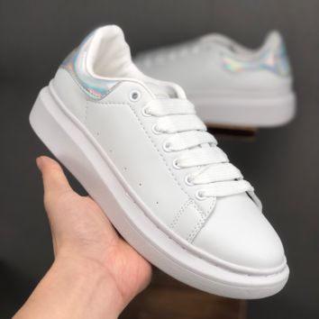 Alexander McQueen White Multi Women Fashion Casual Sneakers Men Sport Shoes - Best Deal Online