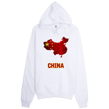 The China Flag Hoodie (unisex)