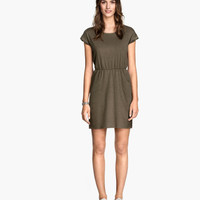 Short-sleeved Jersey Dress - from H&M
