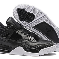 Men's Nike Air Jordan 4 Retro Horsehair Black