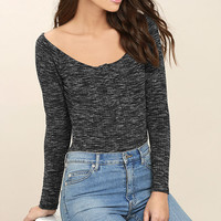 Hangin' Around Black Off-the-Shoulder Top