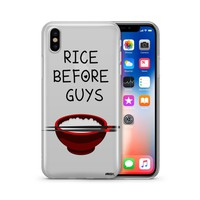 Rice Before Guys - Clear TPU Case Cover