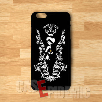 Peterpan Tinkerbell Black And White -stl for iPhone 6S case, iPhone 5s case, iPhone 6 case, iPhone 4S, Samsung S6 Edge