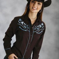 Roper Filagree Emb With Saddle Stitch 8291 Old West Collection Long Sleeve Urban Western Wear