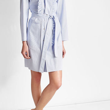 Striped Cotton Shirt Dress - Maison Margiela | WOMEN | US STYLEBOP.COM