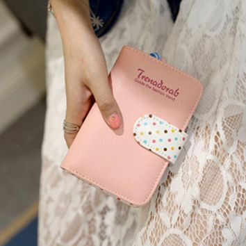 Ladies Leather Wallets Kawaii Printing Purse Card Holder Credit Organizador Women Purse Portefeuille Femme#121