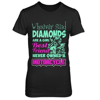 Motorcycles Are A Girl's Best Friend - Shirts