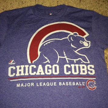 cf2644c0 Vintage Majestic CHICAGO CUBS Baseball T-shirt MLB jersey