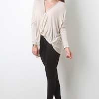 Twisted Plunge Top