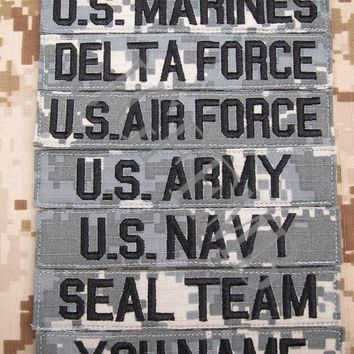 ACU Custom Name tapes Chest Tapes Services Tapes morale tactical military  Embroidery patch Badges