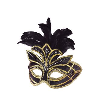 Ven Mask Black W Feathers