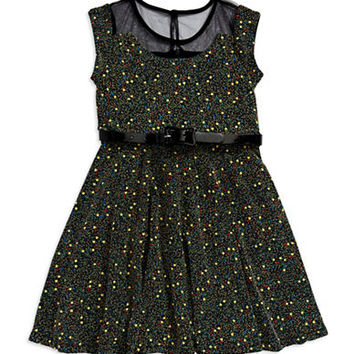 Pippa & Julie Girls 7-16 Patterned Fit and Flare Dress