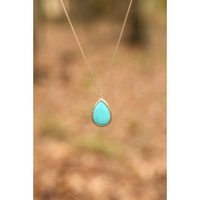 A Drop In The Ocean Necklace-Turquoise