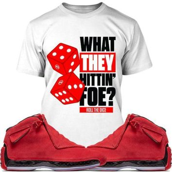 Jordan Retro 18 Red Suede Sneaker Tees Shirt - ROLL THE DICE