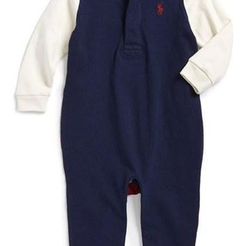Infant Boy's Ralph Lauren Cotton Romper,