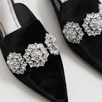 Crystal slingback shoes - Women | MANGO USA