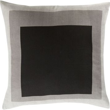 Teori Throw Pillow Black, Gray