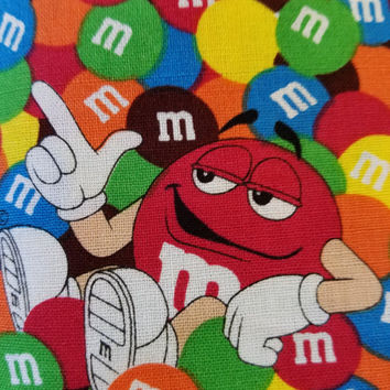 M - & - M's - chocolate - candy - quilting - cotton  - fabric