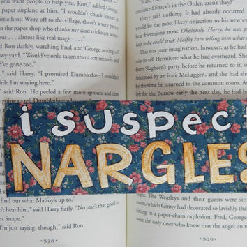 I Suspect Nargles Bookmark // Luna Lovegood // Harry Potter Lovers // Read