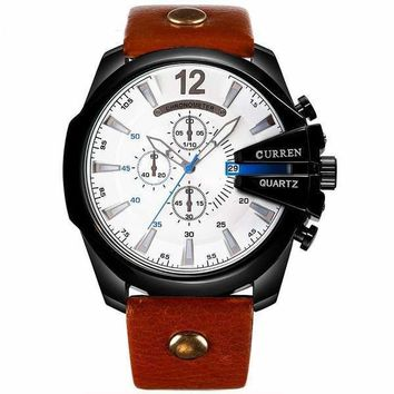 CURREN Men Quartz Watch Waterproof (7 colors available)