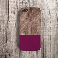BURGUNDY iPhone Case Wood Print iPhone5 Case Wood Print iPhone 4 Case Burgundy iPhone 5S Case Samsung Galaxy S4 Case Mens Gifts Gadget Cases